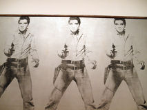 Triple Elvis art piece featuring a photo of Elvis  Royalty Free Stock Photos