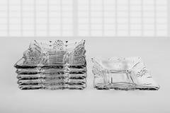 Set of six shallow glass Royalty Free Stock Photos