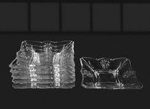 Set of six shallow glass Royalty Free Stock Photo