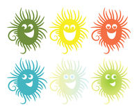 Set of six smiling icons Royalty Free Stock Photography