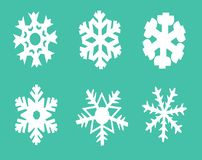 Set of six snowflakes . royalty free illustration