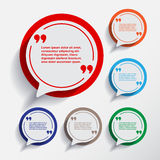 Set of six speech information bubbles for design. Stock Images