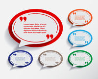 Set of six speech information bubbles for design. Royalty Free Stock Photos