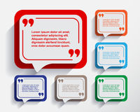 Set of six speech information bubbles for design. Stock Photography