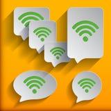 Set of six speech wifi bubbles. Stock Images