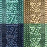 Set of Six-Stitch cable stitch patterns. Stock Images