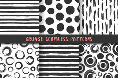 Set of six stylish patterns. Royalty Free Stock Photography