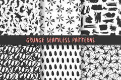 Set of six stylish patterns. Royalty Free Stock Images