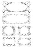 Set of six swirl frames Royalty Free Stock Image