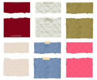 A set of six torn ripped paper Royalty Free Stock Photography