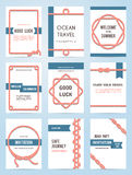 Set of six vector banner templates Royalty Free Stock Photo