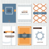 Set of six vector banner templates Royalty Free Stock Images