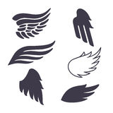Set of Six Vector Silhouettes Royalty Free Stock Photos