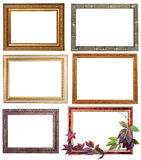 Set of six vintage frames Stock Photos