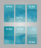 Set of six visit cards Stock Photography
