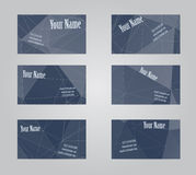 Set of six visit cards Stock Image