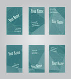 Set of six visit cards Royalty Free Stock Photography