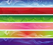 Set of six web abstract banners stock photos