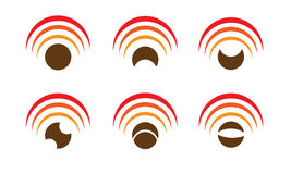 Set of six wi-fi icons Stock Photo