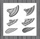 Set of Six Wings Royalty Free Stock Photo
