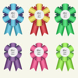 Set of six winner ribbons Stock Image