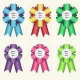 Set of six winner ribbons. Set of six colorful winner ribbons stock illustration