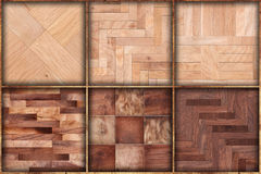 Set of six wooden textures background patterns Stock Image
