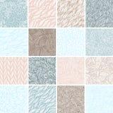Set of sixteen seamless patterns Stock Photos