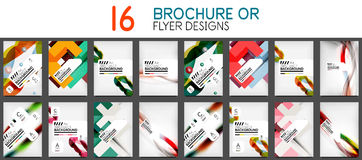 Set of A4 size business brochure or annual report covers. Vector abstract backgrounds vector illustration
