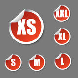 Set size icons Royalty Free Stock Photography