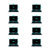 Set of the sizes of a matrix Royalty Free Stock Photo