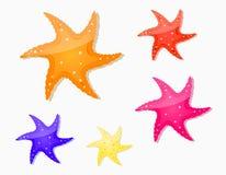 set sjöstjärna för symbol Royaltyfri Foto