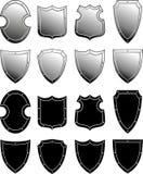 set sköld för heraldisk metall Royaltyfri Bild