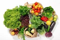 Set składniki dla zdrowego jedzenia na białym tle Fotografia Stock
