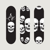 Set of skateboard designs Stock Images
