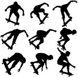 Set a skateboarder performs jumping.  Stock Photography