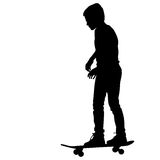 Set of skateboarders silhouette. Vector Royalty Free Stock Photography
