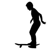 Set of skateboarders silhouette. Vector Stock Image