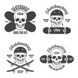 Set of skateboarding emblems Royalty Free Stock Image