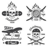 Set of skateboarding emblems Stock Images