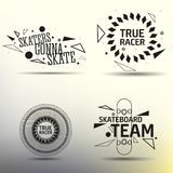Set of skateboarding emblems, labels and designed Stock Photography