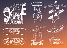 Set of Skateboarding Emblems, Logo and Badges Stock Images