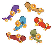 Set of skateboards Royalty Free Stock Photos