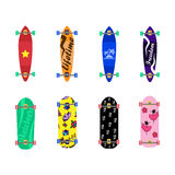 Set of skateboards on white background Royalty Free Stock Photography