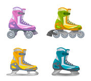 Set of skates. On a white background Royalty Free Stock Image