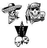 Set Skeleton Cowboy. Vector Stock Photos