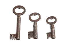 Set of skeleton keys royalty free stock images