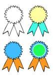 Set of Sketch Badges Royalty Free Stock Image