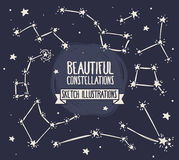 Set of sketch constellations Stock Image