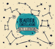 Set of sketch constellations Stock Photography